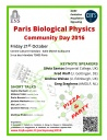 Paris Biological Physics Community Day 2016